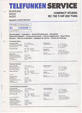 Service Manual Telefunken Rundfunk Compact Studio RC780T HP202TWIN (146)