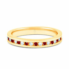 Eternity Ruby Not Enhanced Yellow Gold Fine Rings