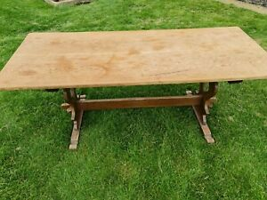 Vintage Oak Refectory Table