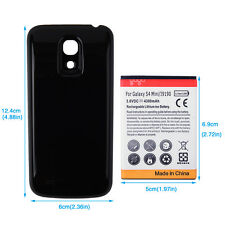 Black Extended 4300mAh Battery + Back Cover For Samsung Galaxy S4 SIV mini i9190