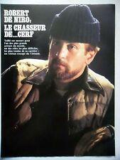 COUPURE DE PRESSE-CLIPPING : Robert DeNIRO Voyage au bout de l'enfer[3pages]1978