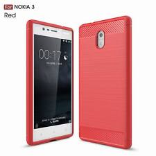 For Nokia 3 5 6 9 Soft Carbon Fiber Rubber Shockproof Ultra Thin Back Case Cover