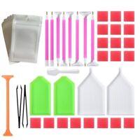 56Pcs Diamond Painting Cross Stitch Tools Tray Sticky Pen Tweezers DIY Craft Set