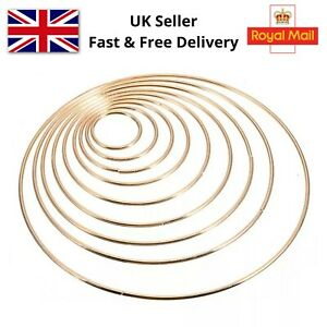 Metal Dream Catcher Hoops for Crafts. Macrame Ring Golden Colour. Strong. UK