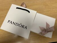 Genuine Pandora Gift Bag & Large Box with Foam insert and Ribbon