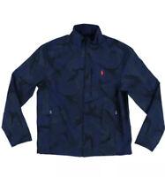 NWT $198 Polo Ralph Lauren Blue Camo Jacket Water Repellent Full Zip Pony Large