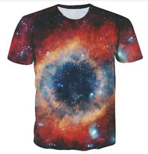 New Women Men Casual 3D T-Shirt tie-dyed Galaxy Print Short Sleeve Tops Tee