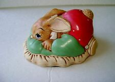 Vintage Pendelfin Dodger Rabbit Figure, Nice! Made In England ~ Hand Painted A4