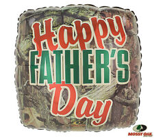 Mossy Oak Camouflage Camo HAPPY FATHER'S DAY Dad Hunter Hunting Party Balloon