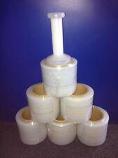 6ROLLs 100MMX300MX20UM CLEAR Pallet (Bundle) WRAP HEAVY DUTY+1 dispenser