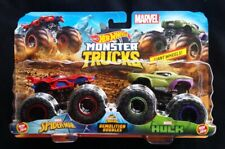 Hot Wheels Monster Truck Marvel Spider Man & Avengers Hulk 2 pack