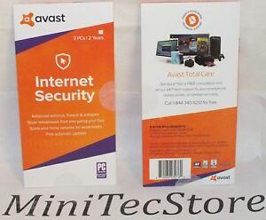 Avast Internet Security & Advanced Antivirus 3 PC / 2 Y Key Card Windows
