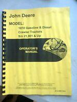 John Deere 1010 Crawler Tractors Operator's Manual loaders diesel gasoline