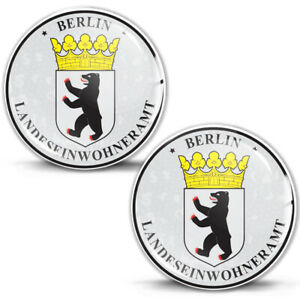 3D Gel Domed Stickers Badge Berlin Stadt Coat of Arms German Number Plate Seal