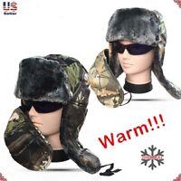New Unisex Winter Warm Hunting Camouflage Russian Hat Trooper Snow Ski