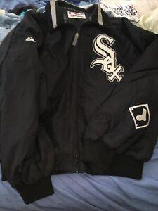 Vintage Majestic Authentic Chicago White Sox Coaches Jacket Sz Xl