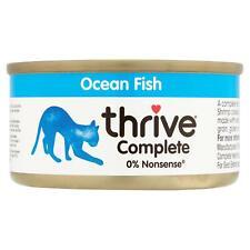 thrive Wet Cat Food Ocean Fish 100% Complete Tin Mackerel Whitebait Shrimp - 75g