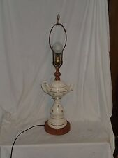 Vintage Berger Mid Century Ceramic Oil Style Table Lamp Light 3 Way Switch