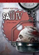 Saw IV - Uncut Edition (DVD) Tobin Bell, Scott Patterson NEW