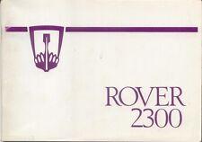 Rover SD1 2300 1977-80 models Original Handbook In English AKM 3091 1977
