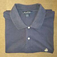 Men's BROOKS BROTHERS Polo Shirt Golf Size XL Short Sleeve Navy Blue