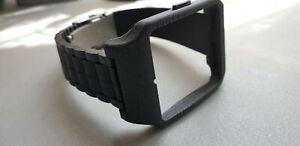 Sony SmartWatch 3 SWR50 BLACK GALAXY  Adapter & Black Silicone Strap + Clasp