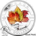 Canada 2013 $10 Coloured Maple Leaf O Canada Series 1/2 oz Pure Silver Coin