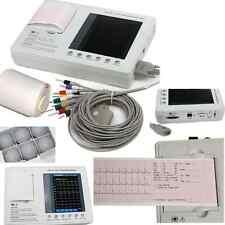 12-lead Digital 3-channel Electrocardiograph ECG/EKG Machine Interpretation+Gift