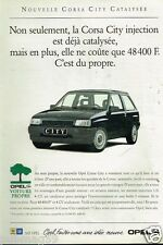 Publicité advertising 1992 Opel Corsa City Injection