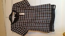 M&S Limited Collection blue / red / white check top, size 6, tags on