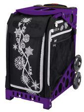 Zuca Bag Silver Shimmer Insert & Purple Frame w/Flash Wheels-Free Cushion