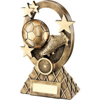 Football/Soccer Trophy - Brz Gold Football Oval Stars Series Resin (3 Sizes)