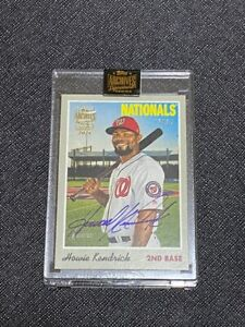 2021 Topps Archives 2019 Topps Heritage Howie Kendrick SP Auto Card 15/34