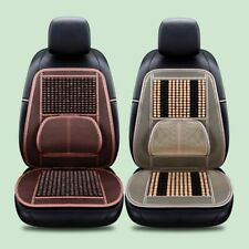 Universal 1x Car Seat Cover Wooden Beads Car Driver Seat Cushion Natural Massage