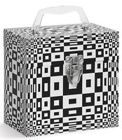 "TUNES-TOTE ROUND ILLUSION 7"" 45-RPM VINYL RECORDS CARRY CASE -  FREE SHIPPING!"