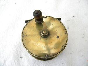 Vintage / Antique Heavy Brass 31/4 Fishing reel