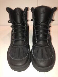 Nike Woodside 2 High ACG Duckboot Kids GS 6y Womens Size 7.5 524872 001 Black