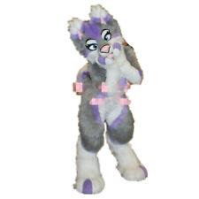 Long Fur Husky Dog Fox Mascot Costume Animal Cosplay Fursuit Parade Adults Size