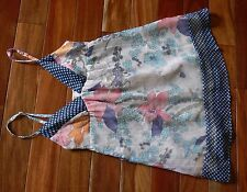 Fire Los Angeles Sheer Lined Empire Waist Baby Doll Tunic Top XS MINT