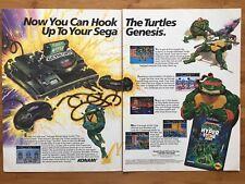 TMNT Teenage Mutant Ninja Turtles: Hyperstone Heist Sega Genesis Poster Ad Art