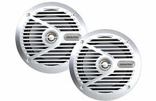 "Alpine Type S SPS-M601 110 Watts 6.5"" 2-Way Coaxial Marine Speakers 6-1/2 SILVER"