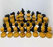 """Vintage weighted 3.25"""" Staunton Chess set (Circa 1930's)"""