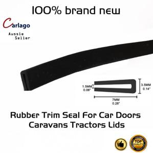 Soft Rubber Weatherstrip Seal Trim Strip Cars Door Bonnet Trunk Edge Protects 5M