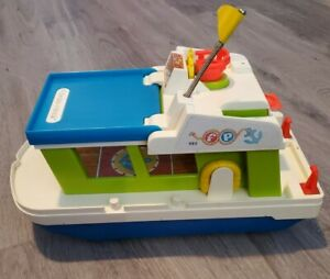 Vintage 1972 Fisher Price Little People Play Family HAPPY HOUSEBOAT #985
