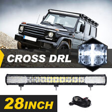28INCH 300W OSRAM LED WORK LIGHT BAR COMBO CROSS DRL OFFROAD DRIVING TRUCK 4WD