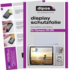 2x Olympus VR-360 Schutzfolie klar Displayschutzfolie Folie unsichtbar Passgenau