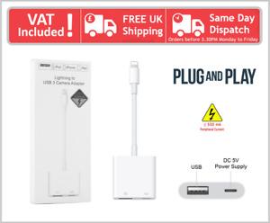 iPad Mini Pro Air iPod To USB 3 Camera Reader Adapter Cable
