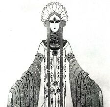 LA PRINCESSE LOINTAINE Petite Illustration Edmond Rostand Erté   Costumes Décors