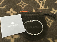JOHN HARDY BAMBOO COLLECTION BRACELET IN 925 SILVER AND BLACK SAPPHIRES *NEW*