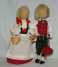 Vintage Rupfenpuppe Trachten Deko, Jute, Handarbeit 30 cm